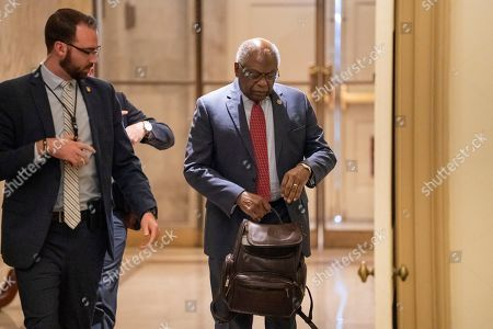 House Majority Whip James Clyburn, D-S.C., returns to the Capitol in Washington, following the death of his wife Emily. Emily Clyburn died last week at age 80 following a decades-long battle with diabetes