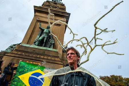 Editorial photo of Demonstration against Bolsonaro in The Hague, Netherlands - 25 Sep 2019
