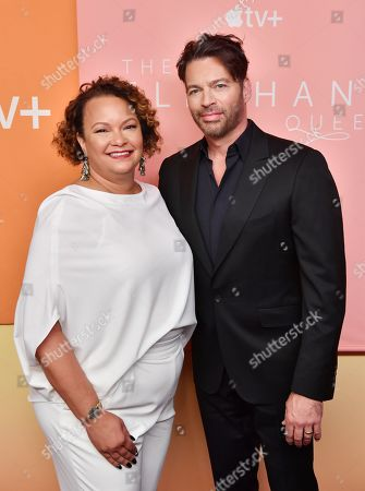 In recognition of Apple's commitment to protecting the planet, Lisa Jackson and Harry Connick Jr., attend the premiere of Apple's acclaimed documentary, 'The Elephant Queen', at The Metrograph in New York on September 25, 2019.