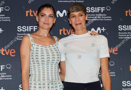 Laetitia Casta and Delphine Lehericey