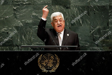 Editorial picture of UN General Assembly Palestine - 26 Sep 2019