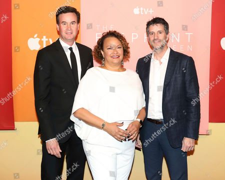 Zack Van Amburg, Lisa Jackson, Jamie Erlicht. TV+- In recognition of Apple's commitment to protecting the planet, Apple TV+ Head of Worldwide Video, Zack Van Amburg, from left, Apple's Vice President of Environmental Policy and Social Initiatives, Lisa Jackson and Apple TV+ Head of Worldwide Video, Jamie Erlicht attend the premiere of Apple's acclaimed documentary, The Elephant Queen, at The Metrograph in New York on