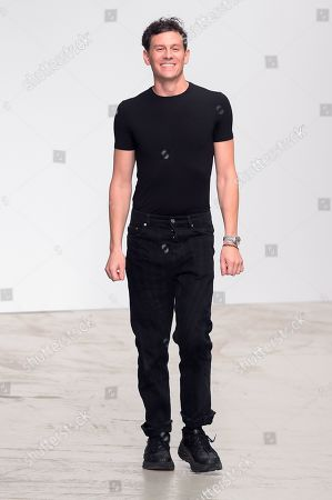 Stock Picture of Casey Cadwallader on the catwalk