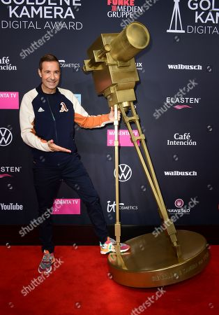 German TV host Kai Pflaume poses on the red carpet of the 'YouTube Goldene Kamera Digital Award 2019' ceremony in Berlin, Germany, 26 September 2019. The best German web video producers will be awarded at the event.