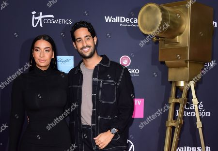 Stock Picture of German-Tunisian influencer Sami Slimani (R) and his sister Lamiya Slimani pose on the red carpet of the 'YouTube Goldene Kamera Digital Award 2019' ceremony in Berlin, Germany, 26 September 2019. The best German web video producers will be awarded at the event.