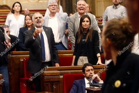 Editorial photo of Catalan pro-independence left party CUP members abandon regional Parliament, Barcelona, Spain - 26 Sep 2019