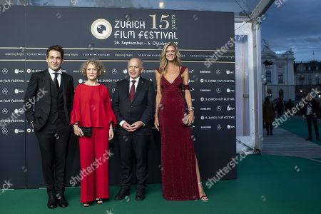 Festival director Karl Spoerri, Zurich mayor Corine Mauch, Swiss Federal Council member Ueli Maurer, and festival director Nadja Schildnecht arrive for the Opening Night of the 15th Zurich Film Festival (ZFF), in Zurich, Switzerland, 26 September 2019. The festival runs from 26 September to 06 October 2019.
