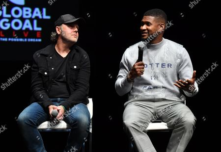 Lars Ulrich and Usher
