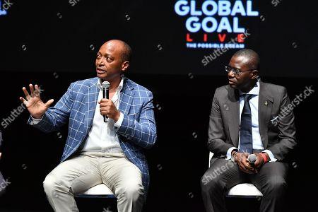 Patrice Motsepe and Babajide Sanwo-Olu