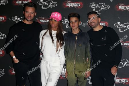 Stock Picture of Katie Price, Junior Andre and guests