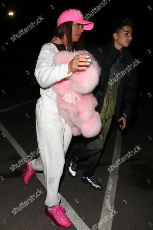 Katie Price and Junior Andre leaving Thorpe Park