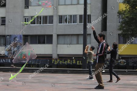 People fly kites in homage to the 43 students of Ayotzinapa during the commemoration of 5 years of their disappearance, in Tlatelolco in Mexico City, Mexico, 26 September 2019. The disappearance of the students of the Normal Rural School Raul Isidro Burgos of Ayotzinapa, in the southern state of Guerrero, marked the beginning of the popularity decline of President Enrique Pena Nieto (2012-2018), of the Institutional Revolutionary Party (PRI), during whose term the 'historical truth' of the case was enunciated, an official version rejected by organizations and relatives of victims.