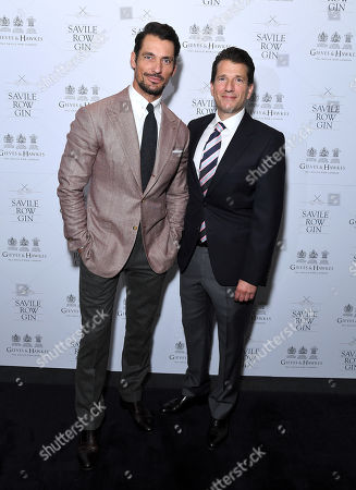 Savile Row Gin Brand Ambassador and Investor David Gandy and Stewart Lee, CEO & founder of Savile Row Gin