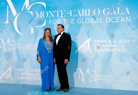 Stock Picture of Prince Charles-Philippe d'Orleans (R) and his wife Diana Alvares Pereira de Melopose (L) attend the 3rd Monte-Carlo Gala for the Global Ocean 2019 in Monaco, 26 September 2019. The Monte Carlo Gala for the Global Ocean, hosted by the Prince Albert II of Monaco Foundation, is a fundraising auction, to support the foundation's marine conservation initiatives.