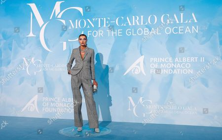 Ukranian model Alina Baikova attends the 3rd Monte-Carlo Gala for the Global Ocean 2019 in Monaco, 26 September 2019. The Monte Carlo Gala for the Global Ocean, hosted by the Prince Albert II of Monaco Foundation, is a fundraising auction, to support the foundation's marine conservation initiatives.