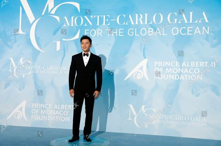 Chinese actor Li Chen attends the 3rd Monte-Carlo Gala for the Global Ocean 2019 in Monaco, 26 September 2019. The Monte Carlo Gala for the Global Ocean, hosted by the Prince Albert II of Monaco Foundation, is a fundraising auction, to support the foundation's marine conservation initiatives.