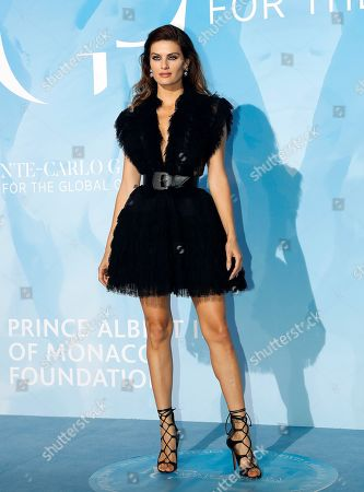Brazilian model Isabeli Fontana attends the 3rd Monte-Carlo Gala for the Global Ocean 2019 in Monaco, 26 September 2019. The Monte Carlo Gala for the Global Ocean, hosted by the Prince Albert II of Monaco Foundation, is a fundraising auction, to support the foundation's marine conservation initiatives.