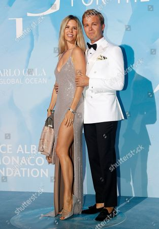 Stock Picture of Nico Rosberg (R) and his wife Vivian Sibold (L) attend the 3rd Monte-Carlo Gala for the Global Ocean 2019 in Monaco, 26 September 2019. The Monte Carlo Gala for the Global Ocean, hosted by the Prince Albert II of Monaco Foundation, is a fundraising auction, to support the foundation's marine conservation initiatives.
