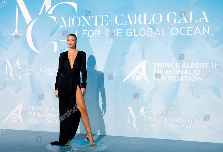 German model Lorena Rae attends the 3rd Monte-Carlo Gala for the Global Ocean 2019 in Monaco, 26 September 2019. The Monte Carlo Gala for the Global Ocean, hosted by the Prince Albert II of Monaco Foundation, is a fundraising auction, to support the foundation's marine conservation initiatives.