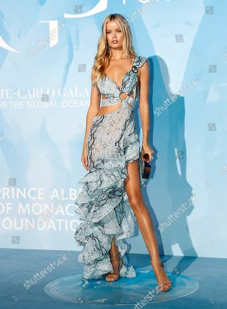 Stock Image of Norwegian model Frida Aasen attends the 3rd Monte-Carlo Gala for the Global Ocean 2019 in Monaco, 26 September 2019. The Monte Carlo Gala for the Global Ocean, hosted by the Prince Albert II of Monaco Foundation, is a fundraising auction, to support the foundation's marine conservation initiatives.