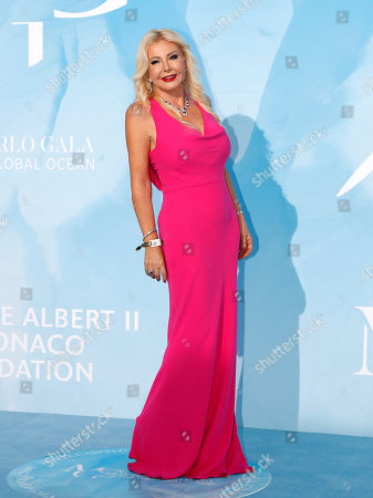 Italian producer Monika Bacardi attends the 3rd Monte-Carlo Gala for the Global Ocean 2019 in Monaco, 26 September 2019. The Monte Carlo Gala for the Global Ocean, hosted by the Prince Albert II of Monaco Foundation, is a fundraising auction, to support the foundation's marine conservation initiatives.