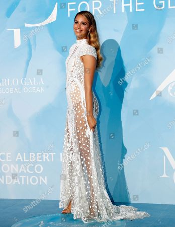 April Love Geary attends the 3rd Monte-Carlo Gala for the Global Ocean 2019 in Monaco, 26 September 2019. The Monte Carlo Gala for the Global Ocean, hosted by the Prince Albert II of Monaco Foundation, is a fundraising auction, to support the foundation's marine conservation initiatives.