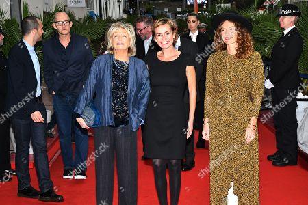 Daniele Thompson, Sandrine Bonnaire and Aurelie Saada