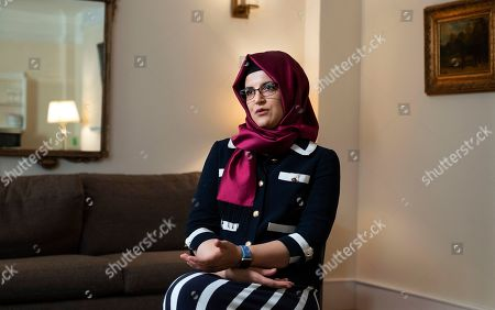 Hatice Cengiz, the fiancee of murdered Saudi journalist Jamal Khashoggi, answers a question during an interview, in New York. The Oct. 2 killing, and attempts at covering it up, drew immediate international condemnation. The reputation of Saudi Crown Prince Mohammed bin Salman, who had been hailed by many as a young leader bringing much-needed social reforms to his country, has never fully recovered