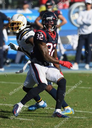 Lonnie Johnson Jr. - Mike Williams. Houston Texans cornerback Lonnie Johnson Jr. (32) covers Los Angeles Chargers wide receiver Mike Williams (81) during an NFL football game, in Carson, Calif. The Texans defeated the Chargers 27-20