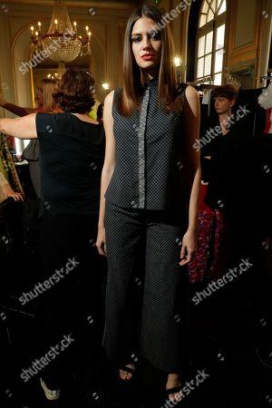 Editorial image of Samantha Giraud show, Backstage, Spring Summer 2020, Paris Fashion Week, France - 26 Sep 2019