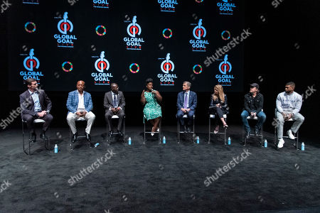 Hugh Jackman, Patrice Motsepe, Babajide Sanwo-Olu, Uzo Aduba, Marc Pritchard, Mindy Grossman, Lars Ulrich and Usher