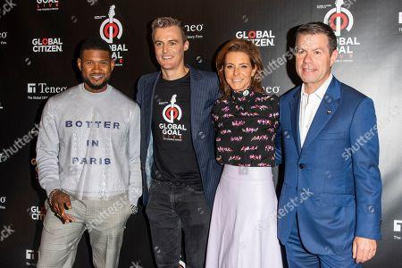 Usher, Hugh Evans, Stephanie Ruhle and Declan Kelly