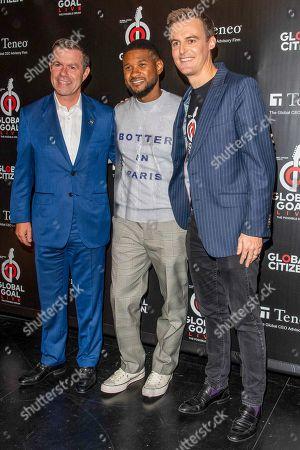Declan Kelly, Usher and Hugh Evans