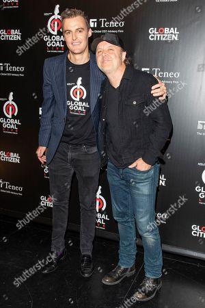 Hugh Evans and Lars Ulrich