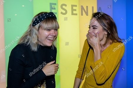 Hayley Conybeare and Emma Conybeare at ESENIA CDB oil spray launch