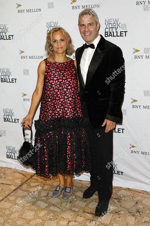 Amy Sedaris and Andy Cohen