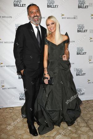 Stock Photo of Mazdack Rassi and Zanna Roberts Rassi