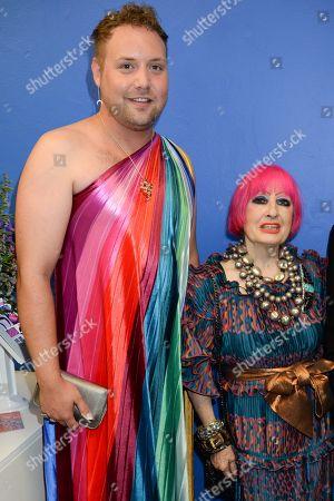Zandra Rhodes and guest