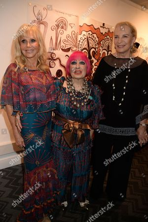 Britt Ekland, Zandra Rhodes and Princess Michael of Kent