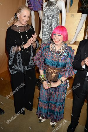 Stock Photo of Princess Michael of Kent and Zandra Rhodes