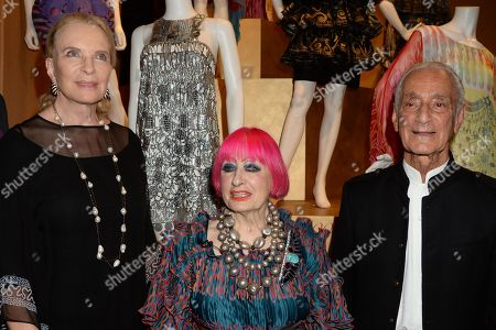 Princess Michael of Kent, Zandra Rhodes and guest