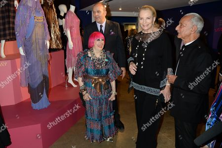 Stock Image of Zandra Rhodes, Princess Michael of Kent and guest