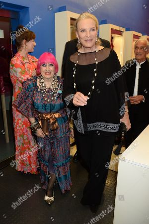 Editorial picture of 'Zandra Rhodes: 50 Years of Fabulous' exhibition launch, London, UK - 26 Sep 2019