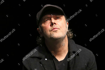"Lars Ulrich participates in the Global Citizens ""Global Goal Live: The Possible Dream"" press conference at St. Ann's Warehouse, in New York"