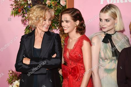"Jessica Lange, Zoey Deutch, Lucy Boynton. Actors Jessica Lange, left, Zoey Deutch and Lucy Boynton attend the premiere of Netflix's ""The Politician"" at the DGA New York Theater, in New York"