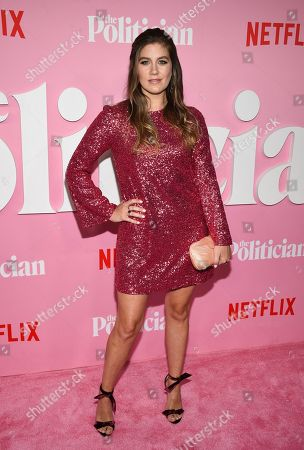 """Stock Picture of Laura Dreyfuss attends the premiere of Netflix's """"The Politician"""" at the DGA New York Theater, in New York"""