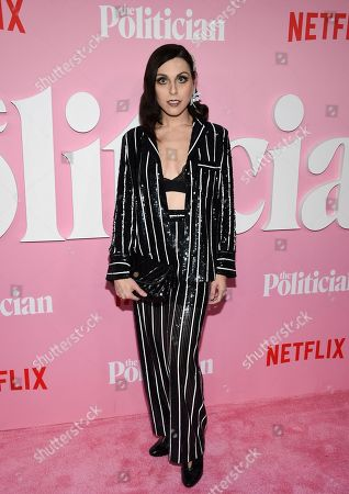 """Stock Picture of Natalie Walker attends the premiere of Netflix's """"The Politician"""" at the DGA New York Theater, in New York"""