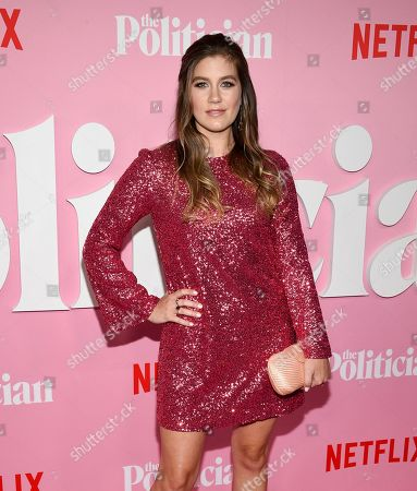 """Laura Dreyfuss attends the premiere of Netflix's """"The Politician"""" at the DGA New York Theater, in New York"""