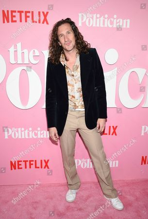 """Stock Image of Creator/writer/director Ian Brennan attends the premiere of Netflix's """"The Politician"""" at the DGA New York Theater, in New York"""