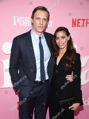 """Teddy Sears, Milissa Skoro. Actors Teddy Sears and wife Milissa Skoro attend the premiere of Netflix's """"The Politician"""" at the DGA New York Theater, in New York"""